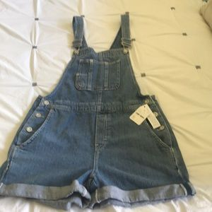 Free People New short overalls, Size XS